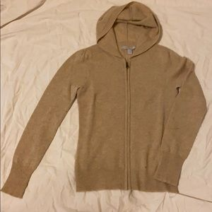 Cashmere hoodie with zipper